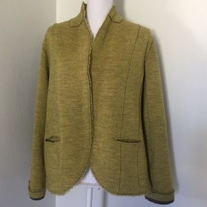 Eileen Fisher Soft Wool Tailored Jacket XL